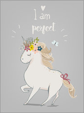 Adesivo murale  Perfect little unicorn - Kidz Collection