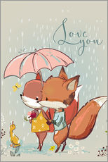 Adesivi murali  Fox love - Kidz Collection