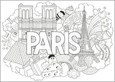 Poster da colorare  Paris