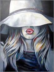 Adesivo murale Woman with hat