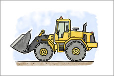 Adesivi murali  Hugos wheel loader - Hugos Illustrations