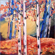Poster Premium Birch trees in autumn