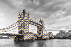 Stampa su plexi-alluminio  Tower Bridge Colour Pop
