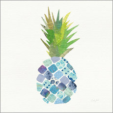Adesivo murale  Tropical Pineapple II - Courtney Prahl