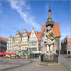 Adesivo murale  Historic Market Square in Bremen with Roland Statue - Jan Christopher Becke