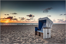 Adesivo murale  Beach chair on Sylt at sunset - Heiko Mundel