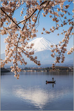 Adesivo murale  Mt. Fuji in springtime with cherry trees - Matteo Colombo