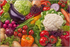 Adesivi murali  Colorful vegetables - Elena Schweitzer