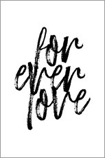 Poster  Forever love quote - Martina illustration