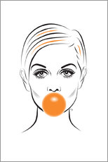 Tela  Twiggy con gomma da masticare - Martina illustration