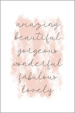 Stampa su alluminio  Amazing Empowering Quote - Martina illustration