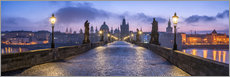 Poster  Panorama of the Charles Bridge in Prague, Czech Republic - Jan Christopher Becke