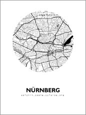 Poster  City map of Nuremberg - 44spaces
