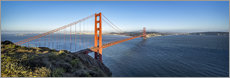 Stampa su tela  Golden Gate Bridge, San Francisco, USA - Jan Christopher Becke
