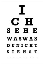 Poster Premium  Eye test tedesco - Typobox