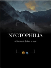 Poster  Nyctophilia - Typobox