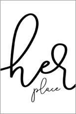Poster  Her place - Melanie Viola