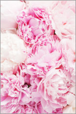 Stampa su tela  Peonie rosa - Pulse of Art