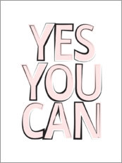 Tela  Yes You Can - Sì, puoi - Martina illustration