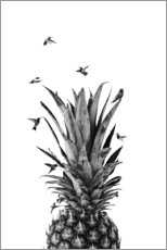 Poster Premium  Pineapple birds - NiMadesign
