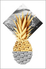 Poster Ananas d'oro