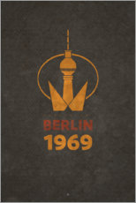 Poster Premium  Berlino 1969 - Torre della televisione - Black Sign Artwork