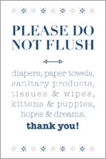 Stampa su plexi-alluminio  Please do not flush - Typobox