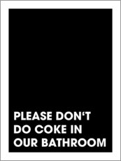 Stampa su vetro acrilico  Please don't do coke - Typobox