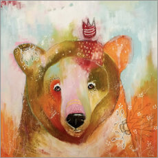 Poster Premium  Little King Bear - Micki Wilde