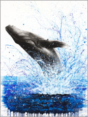Poster Premium Whale Ocean Waves