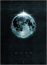 Stampa su PVC  Luna, La Luna - Black Sign Artwork