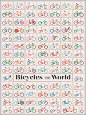 Adesivo murale Bicycles of the World