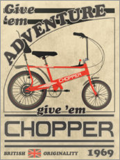 Poster Premium Chopper Bicycle 1969 Advertisement