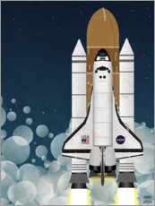 Poster Premium  Launch of Nasa Space Shuttle - Wyatt9