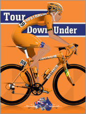 Poster Premium Tour Down Under Cycling Race