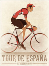 Poster Vintage Tour de Espana cycling race
