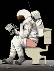 Adesivo murale  Astronaut on the toilet - Wyatt9