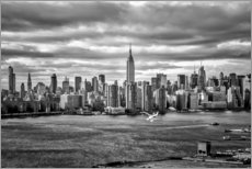 Poster Premium Skyline di New York da Brooklyn