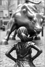 Stampa su tela  Fearless Girl e Wall Street Bull - Art Couture