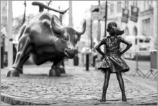 Poster Premium  Fearless Girl e Wall Street Bull - Art Couture