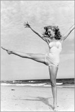 Poster Premium  Marilyn sulla spiaggia - Celebrity Collection