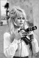 Poster  Brigitte Bardot con la macchina fotografica - Celebrity Collection