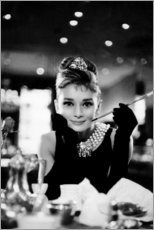 Stampa su tela  Audrey Hepburn in Colazione da Tiffany - Celebrity Collection