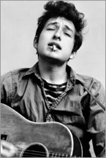 Poster  Bob Dylan con la chitarra - Celebrity Collection