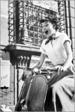 Poster Premium  Audrey Hepburn sulla Vespa - Celebrity Collection