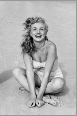 Stampa su plexi-alluminio  Marilyn Monroe in costume da bagno - Celebrity Collection