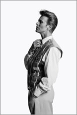 Poster Premium  David Bowie di profilo - Celebrity Collection