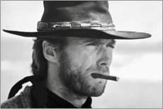 Stampa su plexi-alluminio  Clint Eastwood in Il buono, il brutto e il cattivo - Celebrity Collection