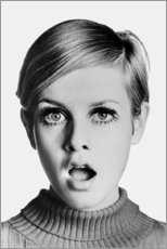 Stampa su alluminio  Twiggy sbalordita - Celebrity Collection