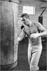 Stampa su PVC  Steve McQueen che fa pugilato - Celebrity Collection
